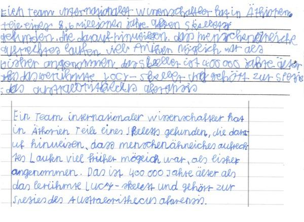 Handschrift - Schreibschrift - Schrifttraining