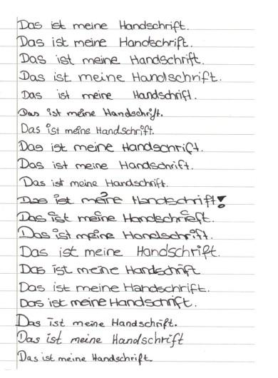 Handschrift Schreibschrift Handschrift Als Persönliche Ausdrucksform